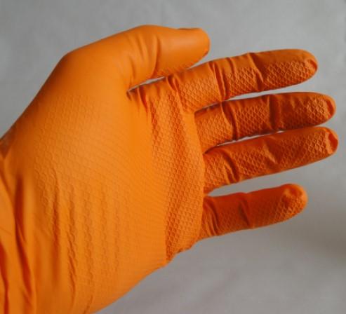 Nitril Einmalhandschuhe orange
